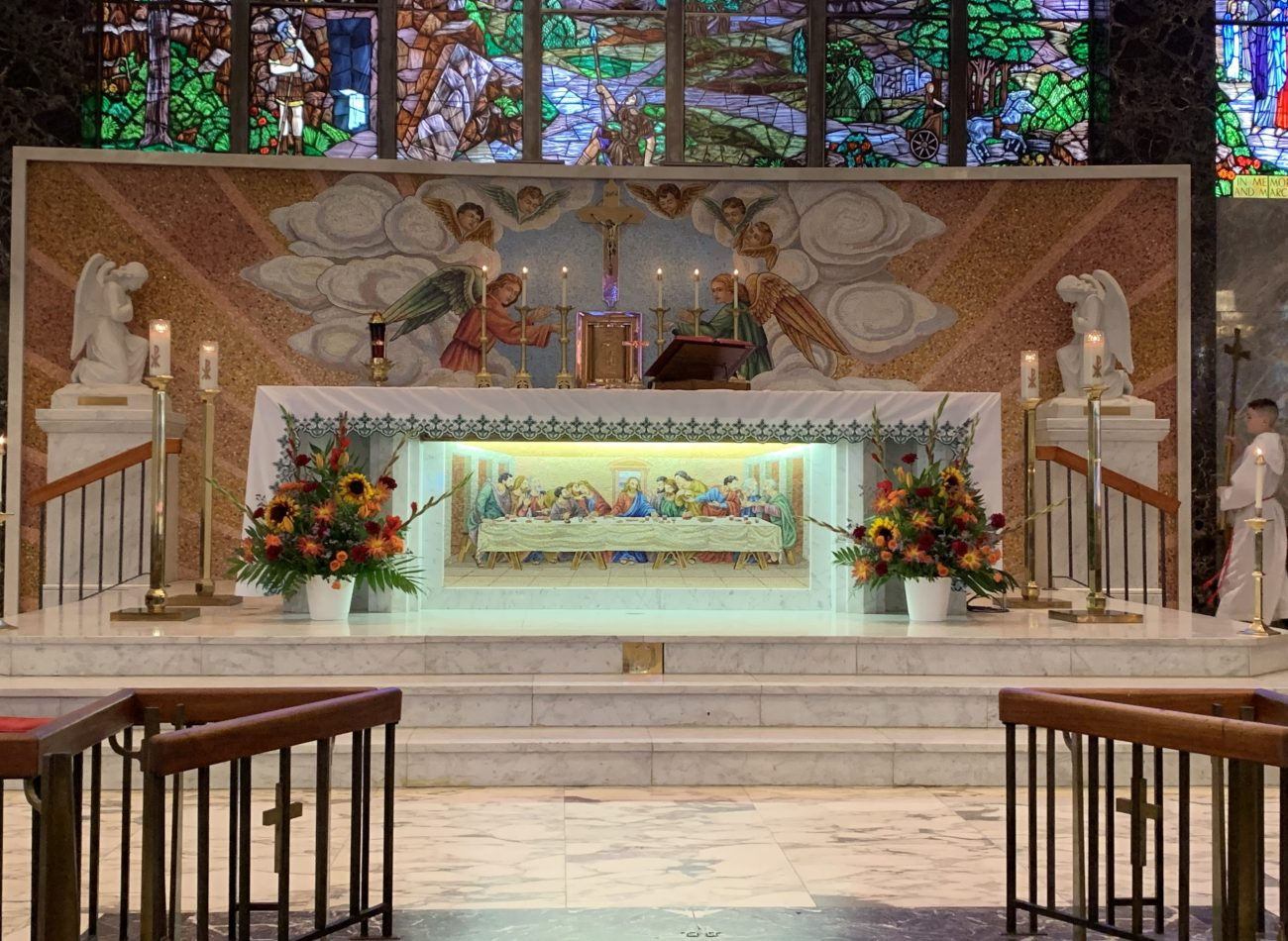 Altar in installation day